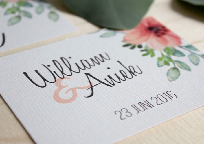 Wedding stationery William & Aniek